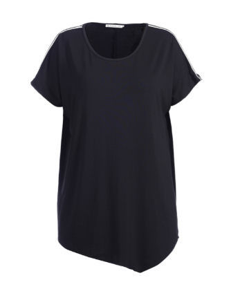 Casual Fashion Ladies Blouse Basic Tee Shirt With Round Neck Eco - Friendly